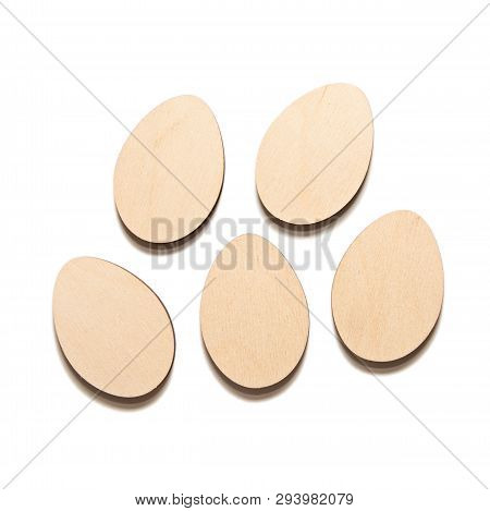 Wooden Eggs For Decoupage On White
