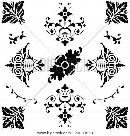 Black Medieval Ornaments