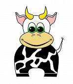 cute cartoon cow poster