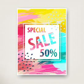 Summer Sale Banner Design. Social Media Sale, Website And Mobile Banner Template.  Banner, Poster. D