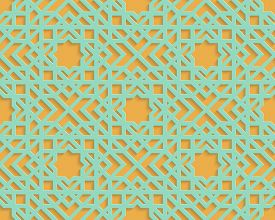 Abstract Arabic Seamless Geometric Pattern. Arabic Ornament. Islamic Design. Oriental Style. Geometr
