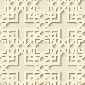 Abstract Seamless Geometric Pattern. Arabic Ornament. Moroccan Pattern. Modern Stylish Texture With