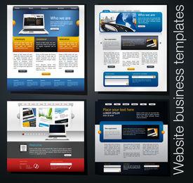 plantillas de sitio Web exclusivo empresarial, set 4