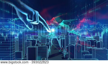 Smart City And  Digital Landscape In Cyber World , Internet Of Things, Networks And  Augmented Reali