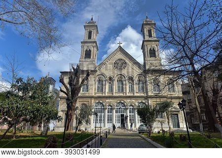 Turkey, Istanbul 20,03,2018 Holy Trinity Church Orthodox Church Of The Archdiocese Of Constantinople