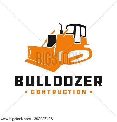 Bulldozer Construction Tool Logo Design Or Brand