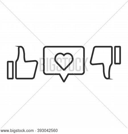 Thumb Up, Thumb Down, Like Icon. Super Cool Vote Sign. Social Media Symbol.