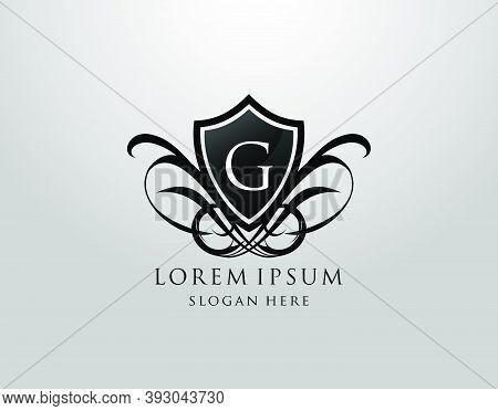 Majestic G Letter Logo. Vintage G Shield Design For Royalty, Restaurant, Automotive, Letter Stamp, B