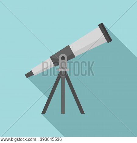Astronomy Telescope Icon. Flat Illustration Of Astronomy Telescope Vector Icon For Web Design