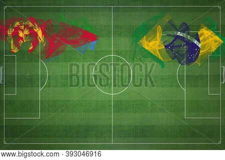 Eritrea Vs Brazil Soccer Match, National Colors, National Flags, Soccer Field, Football Game, Compet