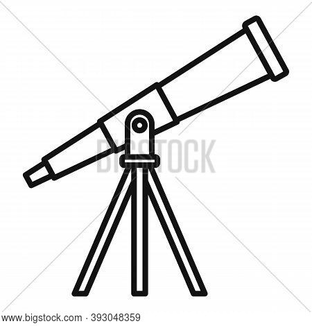Astronomy Telescope Icon. Outline Astronomy Telescope Vector Icon For Web Design Isolated On White B