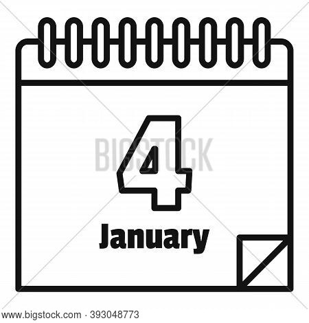 January Newtons Day Icon. Outline January Newtons Day Vector Icon For Web Design Isolated On White B