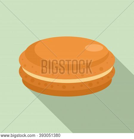 French Macaroon Icon. Flat Illustration Of French Macaroon Vector Icon For Web Design
