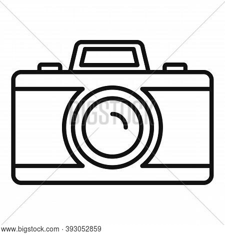 French Photo Camera Icon. Outline French Photo Camera Vector Icon For Web Design Isolated On White B