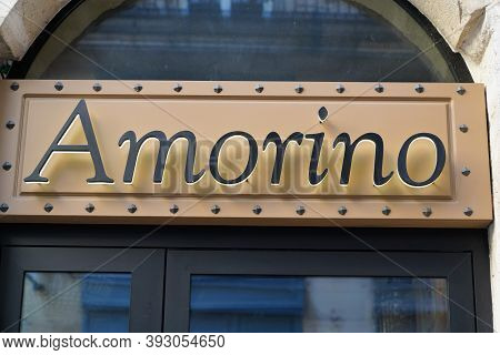 Bordeaux , Aquitaine / France - 11 01 2020 : Amorino Logo And Text Sign Of Italian Cafe Of Gelato Ic