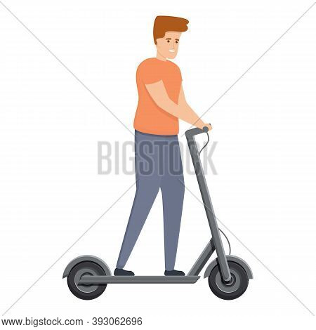 City Activity Electric Scooter Icon. Cartoon Of City Activity Electric Scooter Vector Icon For Web D