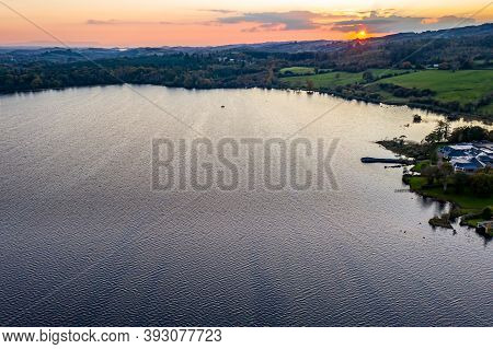 Aerial View Of The Lake Eske In Donegal, Ireland