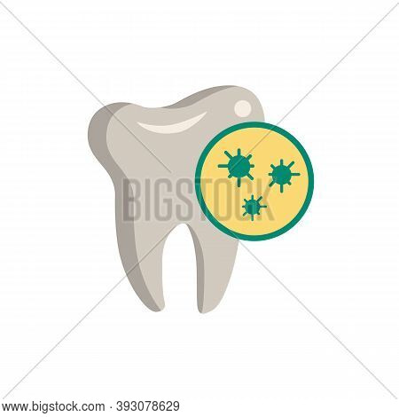 Germs On Teeth Icon. Simple Element From Dentistry Collection. Creative Germs On Teeth Icon For Web
