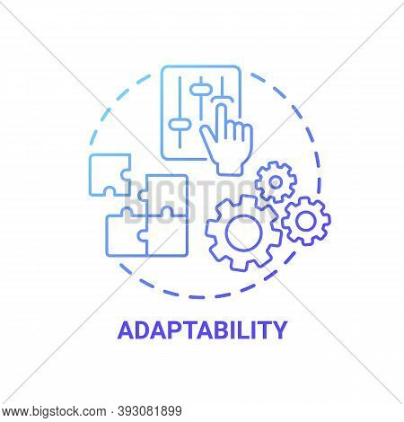 Adaptability Concept Icon. Creative Thinking Skills. Adjust Ability To Different Situations In Life.