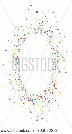 Festive Stunning Confetti. Celebration Stars. Colorful Confetti On White Background. Favorable Festi