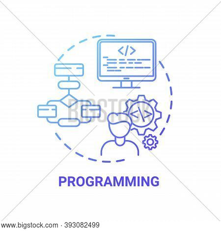 Programming Concept Icon. Careers In It For Creative Thinkers. Hardware Developer Vacancy. Innovativ