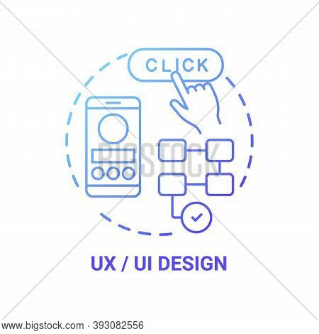 Ux And Ui Design Concept Icon. Careers In It For Creative Thinkers. Creating Unique And Special Webs