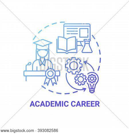 Academic Career Concept Icon. Top Careers For Creative Thinkers. Getting Popular Job Vacancies. Futu