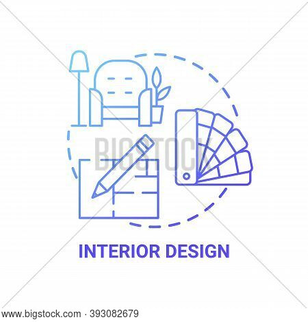 Interior Design Concept Icon. Top Careers For Creative Thinkers. Beautiful House Creation. Awesome F