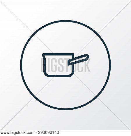 Casserole Icon Line Symbol. Premium Quality Isolated Saucepan Element In Trendy Style.