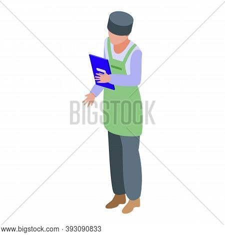 Seller Student Job Icon. Isometric Of Seller Student Job Vector Icon For Web Design Isolated On Whit