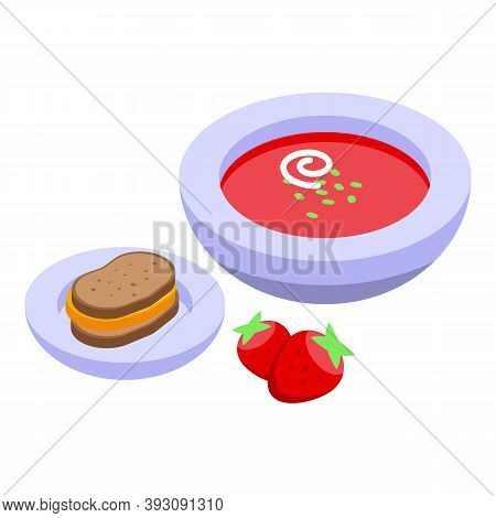 Lunch Food Icon. Isometric Of Lunch Food Vector Icon For Web Design Isolated On White Background