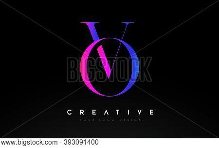Vo, Ov, Logo, Elegant, Classic, Serif, Letter, Design, Creative, Typography, Corporate, Business, Co