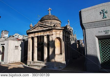 Buenos Aires, Argentina - 04 May 2016: Recoleta Cemetery In Buenos Aires, Argentina