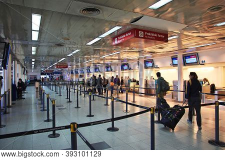 Buenos Aires, Argentina - 04 May 2016: The Airport In Buenos Aires, Argentina