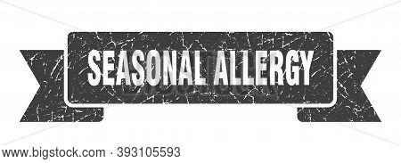 Seasonal Allergy Grunge Vintage Retro Band. Seasonal Allergy Ribbon