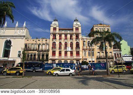 Rio De Janeiro, Brazil - 07 May 2016: The Building In Rio De Janeiro, Brazil