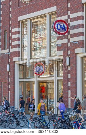 Amsterdam, Netherlands - May 15, 2018: C And A Fashion Flagship Store In Amsterdam, Holland.