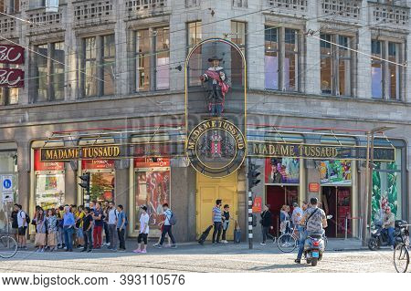 Amsterdam, Netherlands - May 15, 2018: Madame Tussaud Museum Tourist Attraction In Amsterdam, Hollan