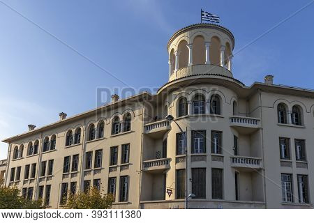 Thessaloniki, Greece - September 22, 2019: Typical Street In City Of Thessaloniki, Central Macedonia