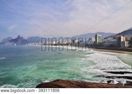 Rio De Janeiro, Brazil - 09 May 2016: Ipanema Beach In Rio De Janeiro, Brazil