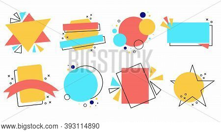 Abstract Elements. Modern Bright Colorful Background Set For Graphic And Web Design, Social Media Ba