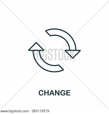 Change Line Icon. Simple Element From Digital Disruption Collection. Outline Change Icon Element