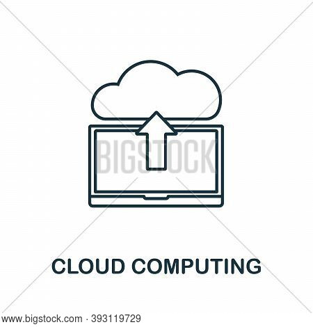 Cloud Computing Line Icon. Simple Element From Digital Disruption Collection. Outline Cloud Computin