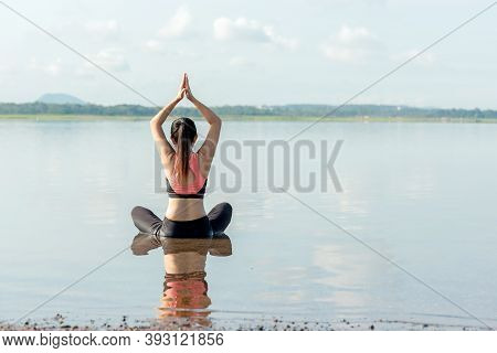 Yoga Women Lifestyle Exercise And Pose For Healthy Life. Young People Pose Yoga Balance Body Vital Z