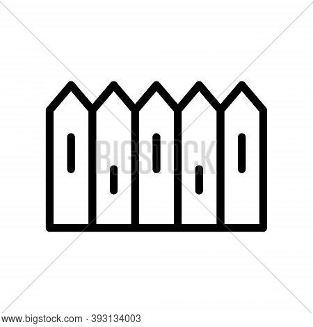 Fence Icon Illustration In Line Design Style Isolated On White Background.