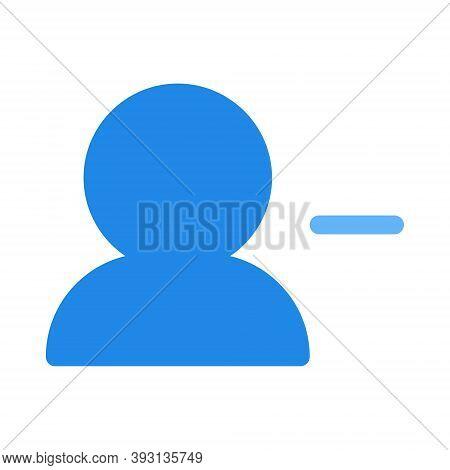 Remove User Icon In Flat Style. User Profile Symbol With Minus Sign Illustration. Unfriend Symbol Fo