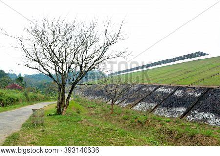 Beautiful Meadow From The Banasura Sagar Dam In Western Ghats, Wayanad, Kerala