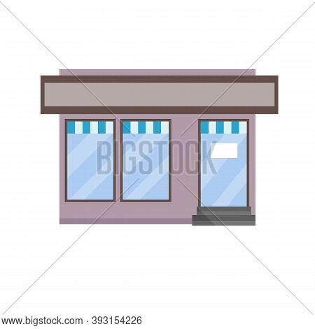 Small Shop. Store With Red And White Roof. Food Trade And Coffee Shop