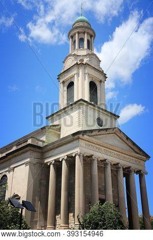 Washington Dc, United States. National City Christian Church - Neoclassical Building At Thomas Circl