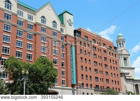 Washington, Usa - June 14, 2013: Homewood Suites By Hilton All-suite Hotel In Washington. As Of 2012